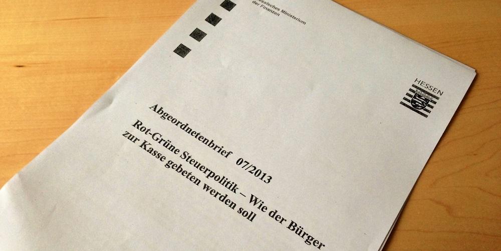 Schwarz-gelbe Wahlkampfargumentation sponsored by Steuerzahler
