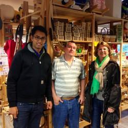 gemeinsam mit Priska Hinz am 16.09. beim Naturholz-Produzenten Ecosia in Langenselbold