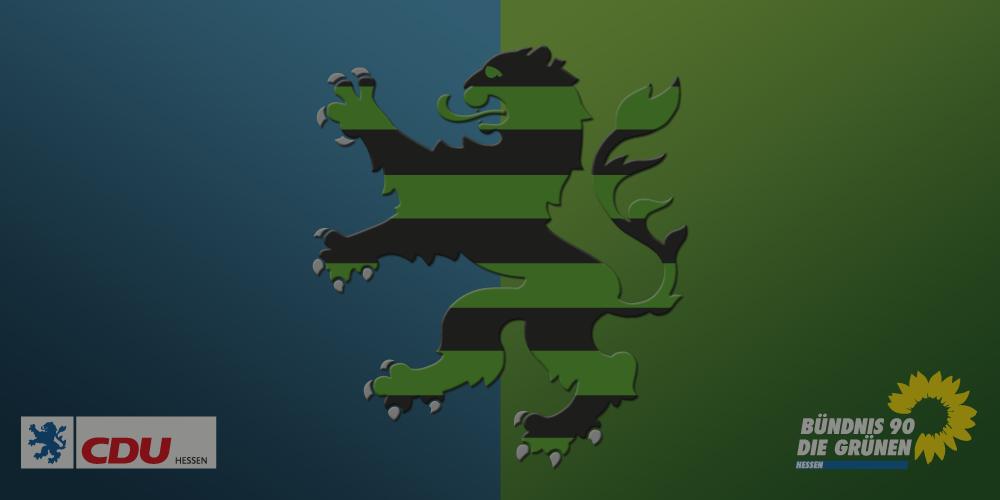 Schwarz, grün, digital